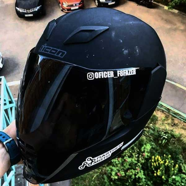 Samolepka Instagram na helmu