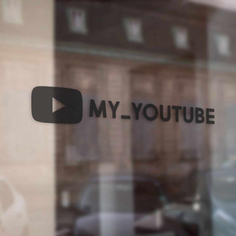 Samolepka YouTube ❤️ - odkaz na profil