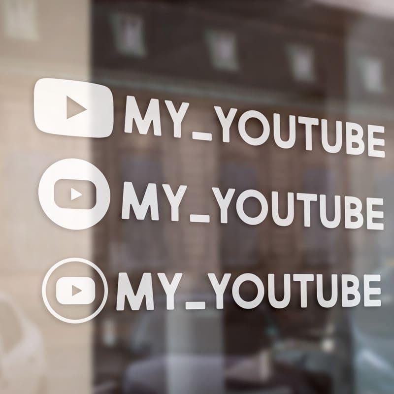 Samolepka YouTube