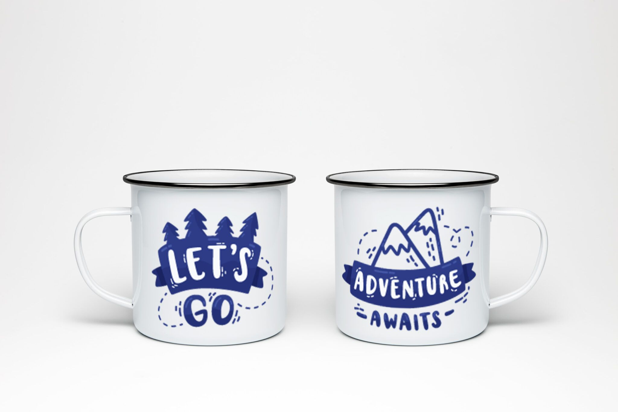 Plechový hrnek Let's Go Adventure Awaits, plecháček Let's Go Adventure Awaits