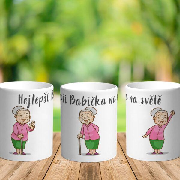 Bílý keramický hrnek pro vaši milovanou babičkuNejlepší Babička na světě