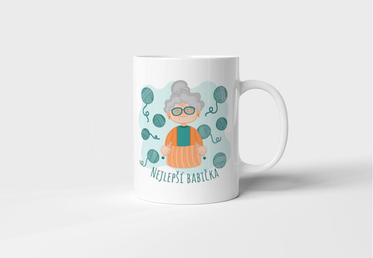 Bílý keramický hrnek pro vaši milovanou babičku Nejlepší babička