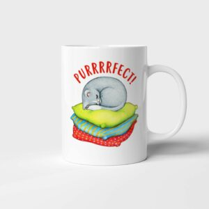 Bílý keramický hrnek Purrrfect!