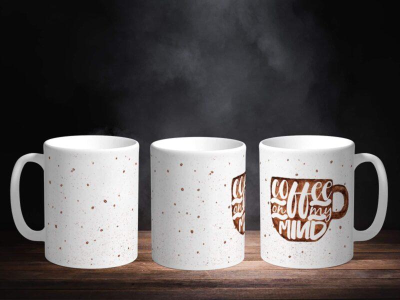 Bílý keramický hrnek Coffee on my mind