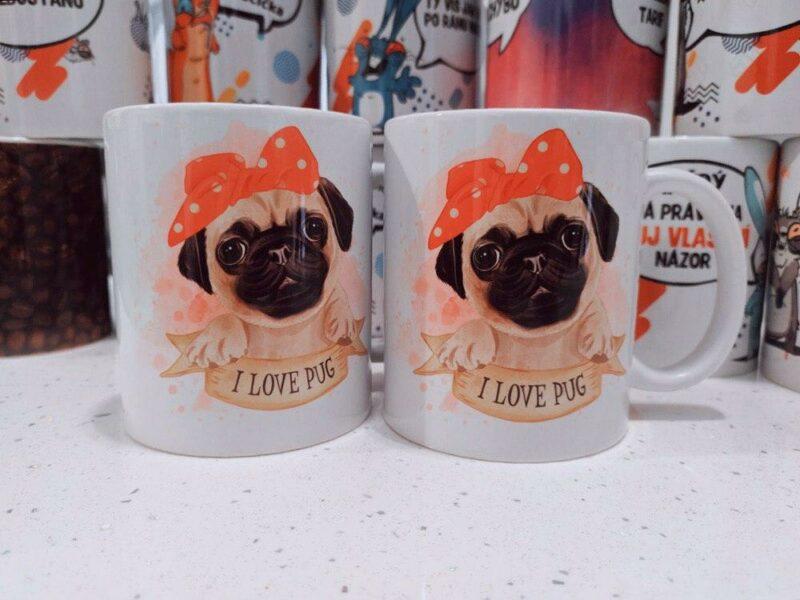 Hrnek Mops I Love Pug