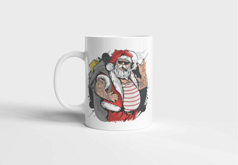 Bílý keramický vánoční hrnekKrásné vánoce, kámo