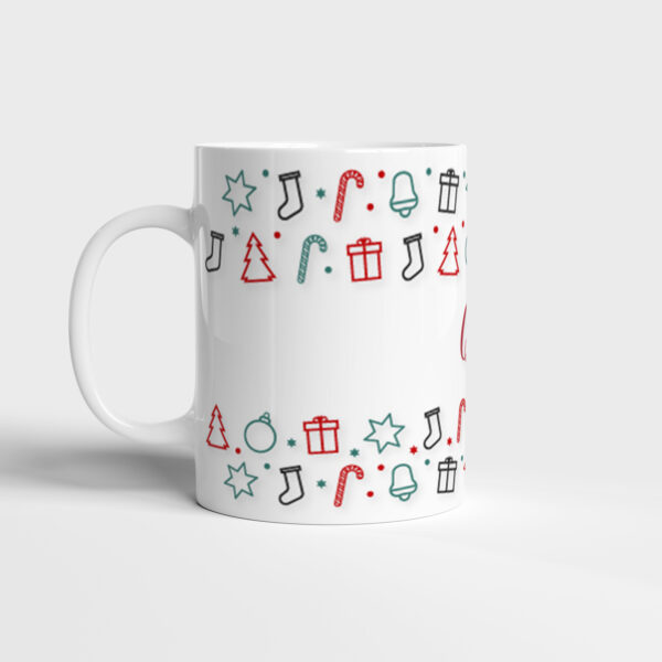Bílý keramický vánoční hrnek Merry Christmas and Happy New Year