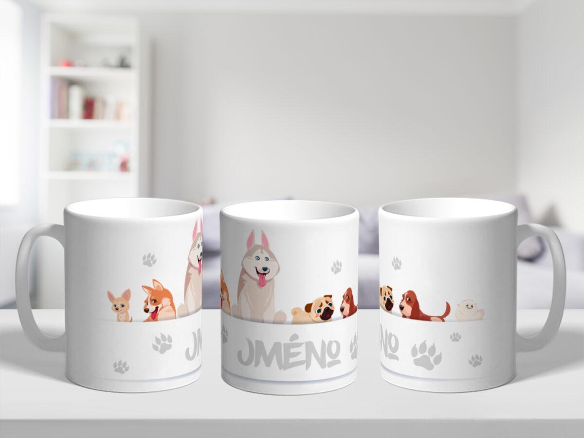 Originální hrnek se jménem pro děti - Psi