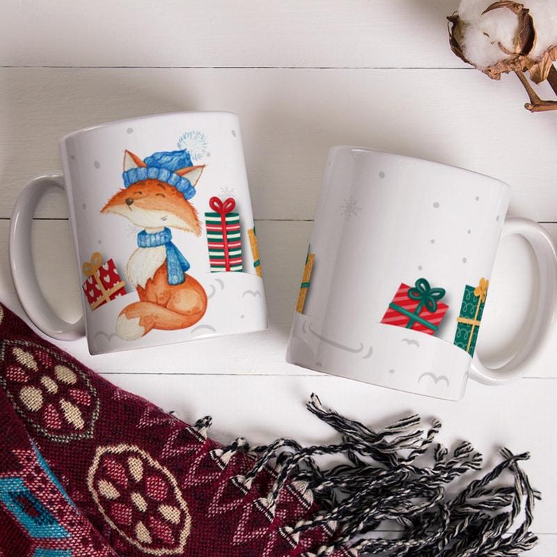 Vánoční hrnek s Liškou