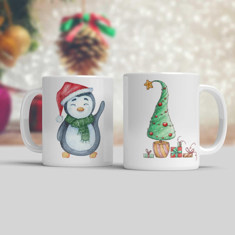 Hrnek Tučňák a vánoční stromeček