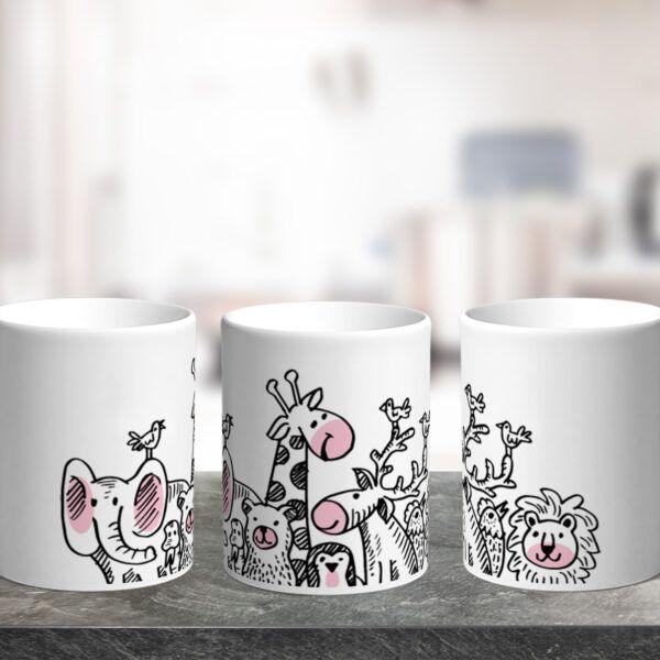 Hrnek Roztomilé kreslené zvířata