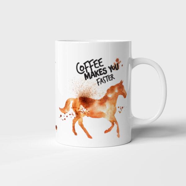 Originální keramický hrnek na kávu s Koněm