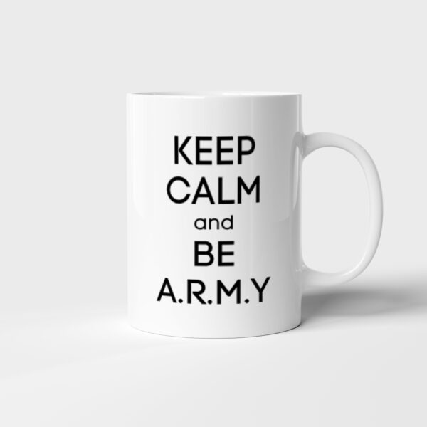 Hrnek BTS Keep Calm and Be ARMY s potiskem