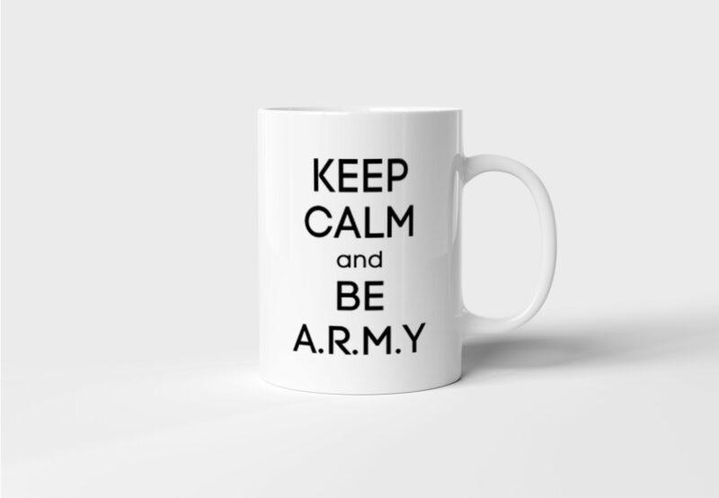 Hrnek BTS Keep Calm and Be ARMY s potiskem