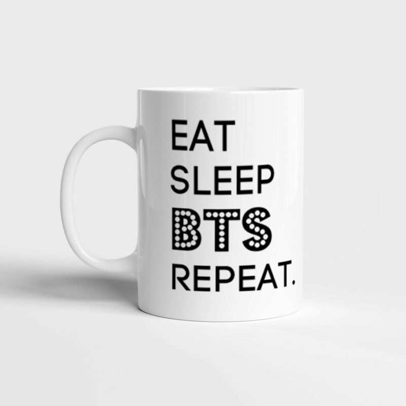 Hrnek Eat, Sleep, BTS, Repeat. s potiskem
