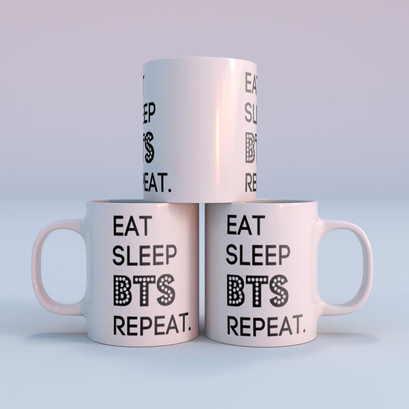 Hrnek BTS - Eat, Sleep, BTS, Repeat.