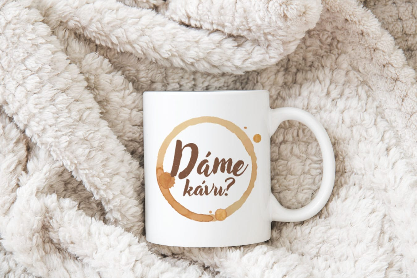 Originální keramický hrnek na kávu Dáme kávu?