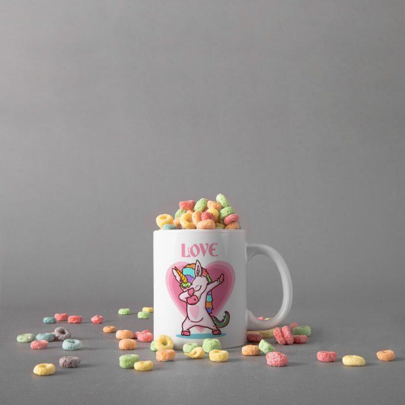 Hrnek Jednorožec Love může skvělým dárkem k Valentýnu!