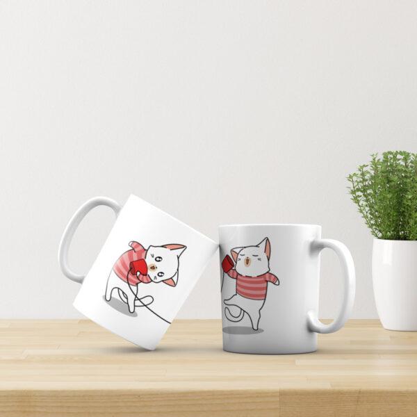 2 keramické hrnky Miluji tě - Kočky