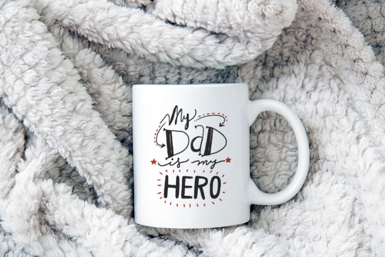 Vynikající hrnek pro tatínka My Dad Is My Hero