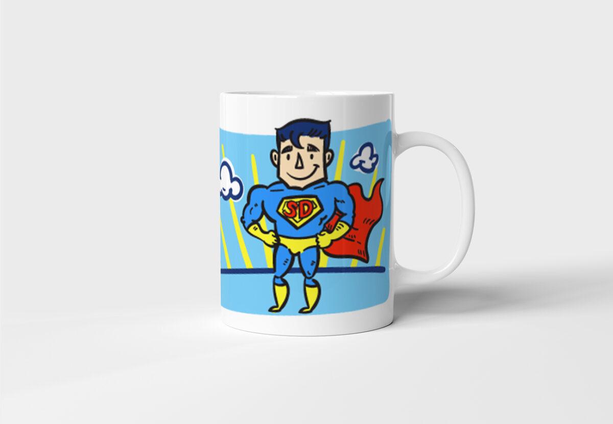 Hrnek se jménem Můj Táta Je Superman s potiskem