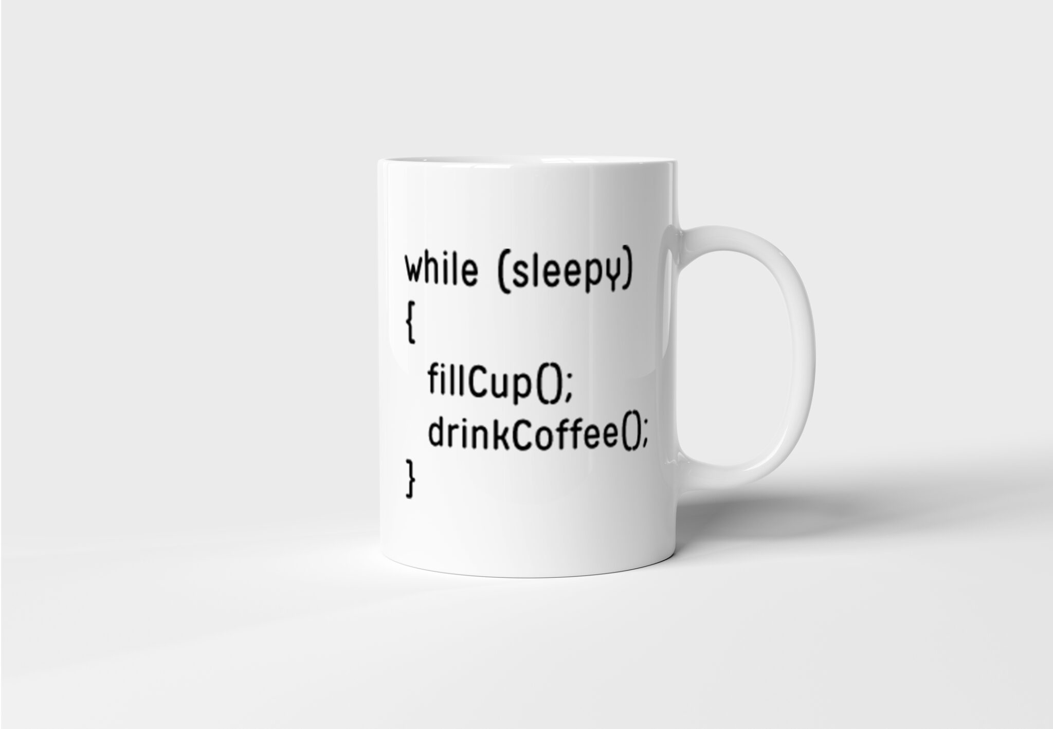 Hrnek pro programátora While sleepy s potiskem