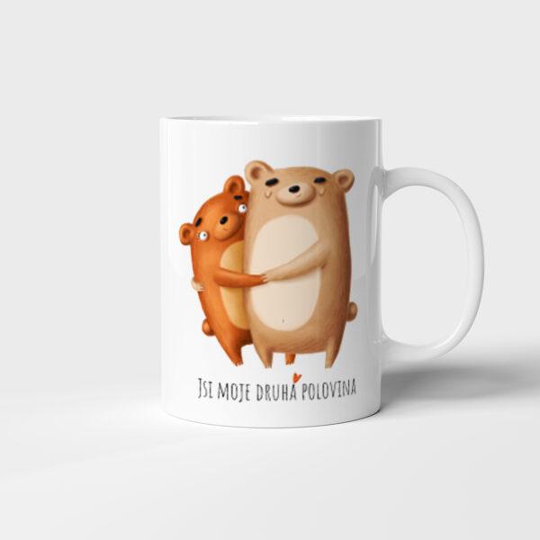 Hrnek Jsi moje druhá polovina - Medvědi s potiskem