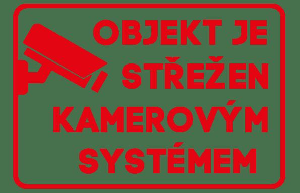 Samolepka Objekt je střežen kamerovým systémem