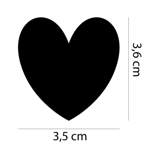 Sada samolepek - Srdce - 35 ks