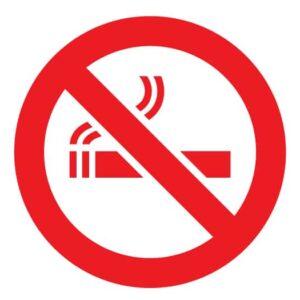 Samolepka Zákaz kouření na auto, zed', výlohu v Brně