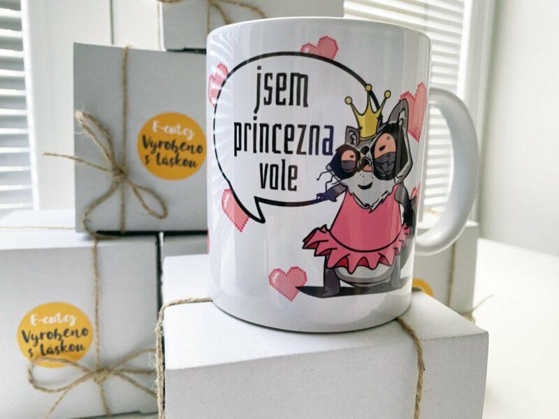 Hrnek Jsem Princezna Vole s potiskem