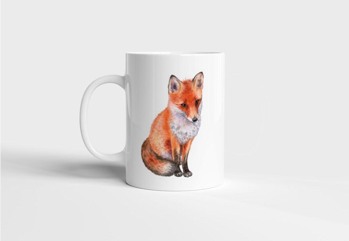Keramický hrnek s liškou Fox