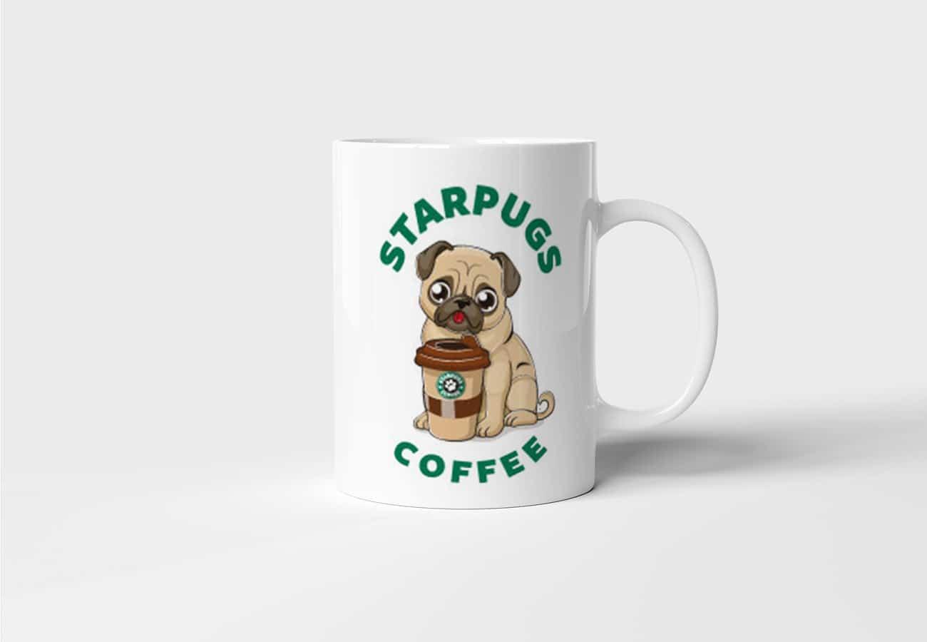 Hrnek s Mopsem Starpugs Coffee s potiskem
