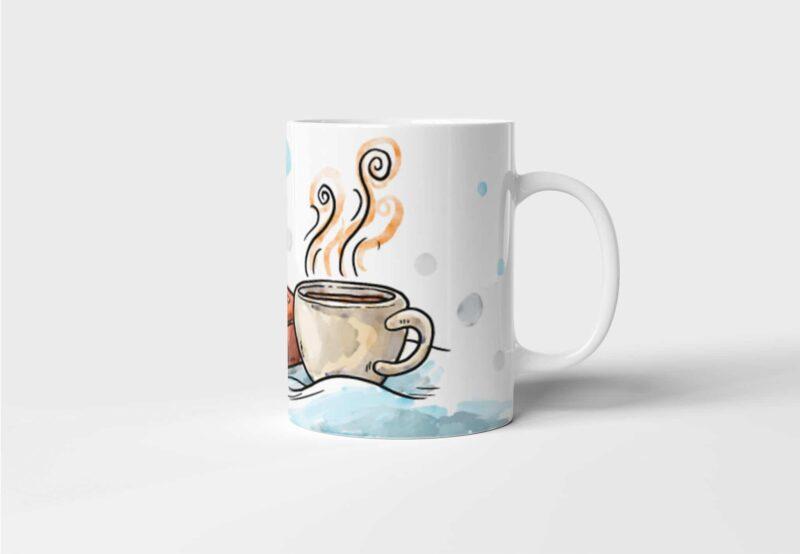 Hrnek na kávu K dobré knize dobrá káva s potiskem