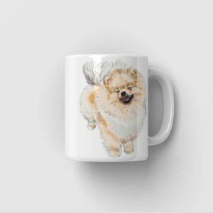 Hrnek se psem Pomeranian