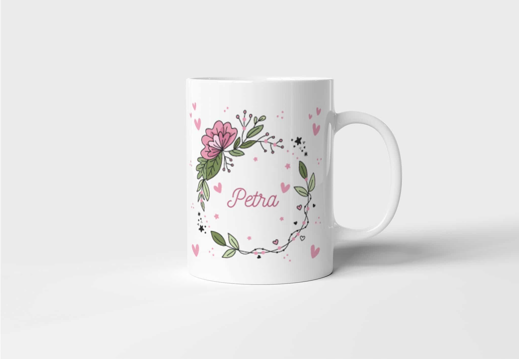 Hrnek se jménem na přání Floral
