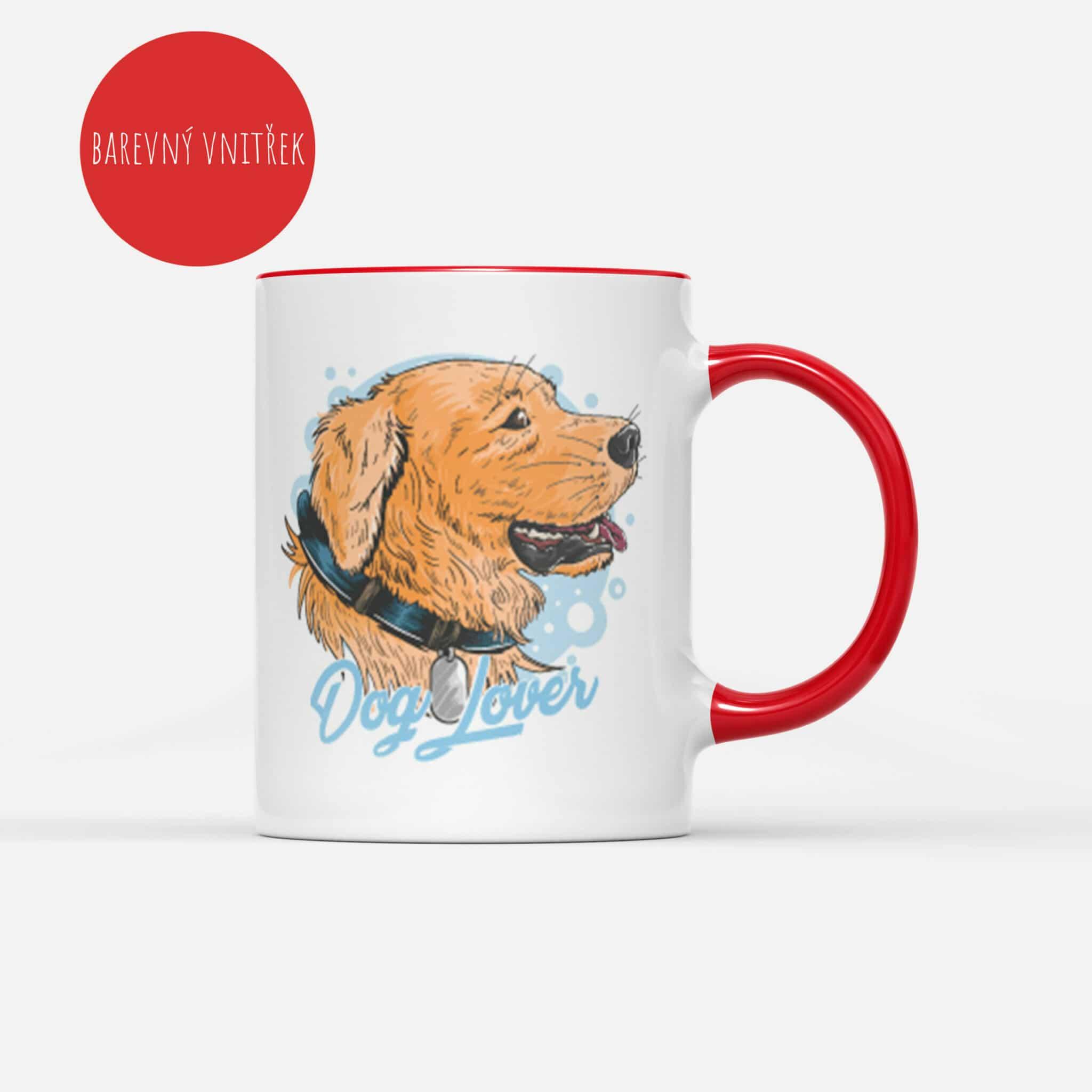 Cerveny Hrnek Dog Lover s potiskem