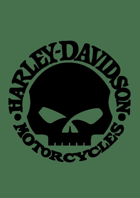 Samolepka Lebka HD Motorcycles
