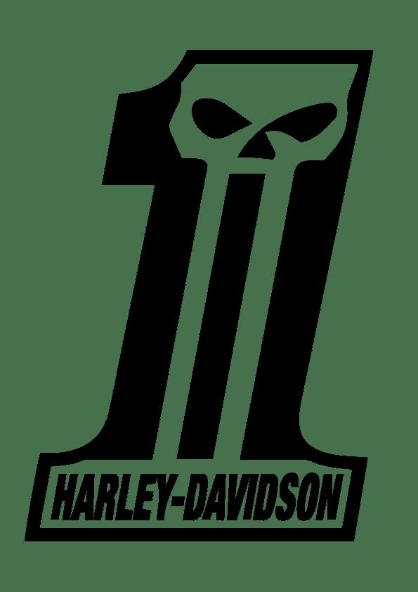 Samolepka Lebka Harley #1