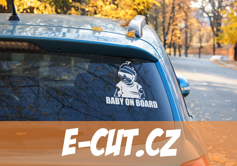 Samolepka BABY ON BOARD (2) na auto