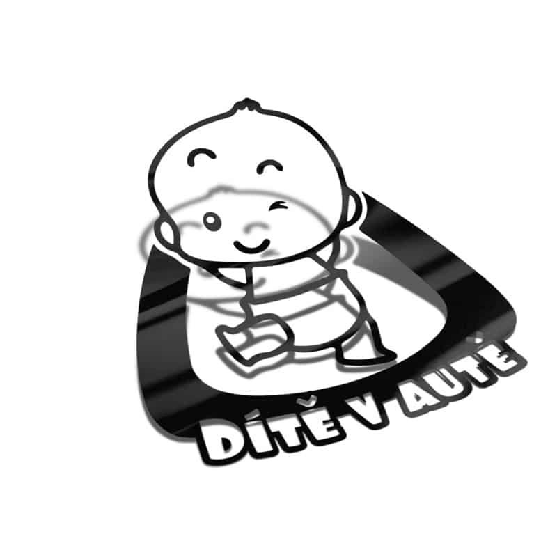 Samolepka BABY ON BOARD/DÍTĚ V AUTĚ na auto
