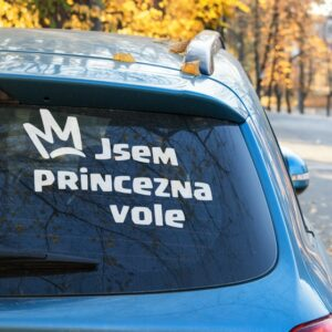 Samolepka Jsem Princezna Vole