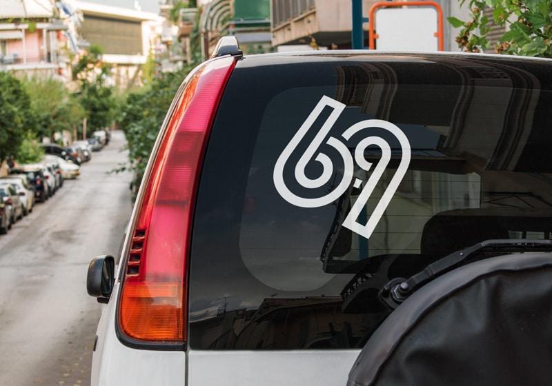 Samolepka 69 na auto