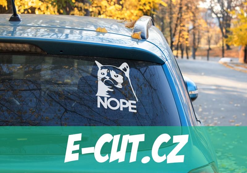 Samolepka Grumpy Cat Nope na auto