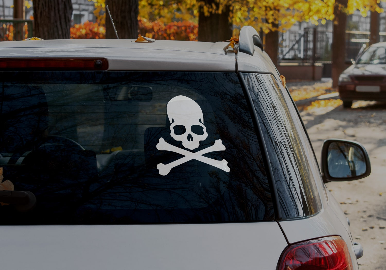 Samolepka Skull na auto