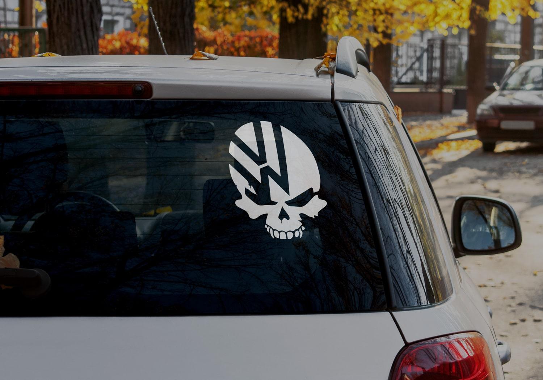 Samolepka Volkswagen Lebka na auto
