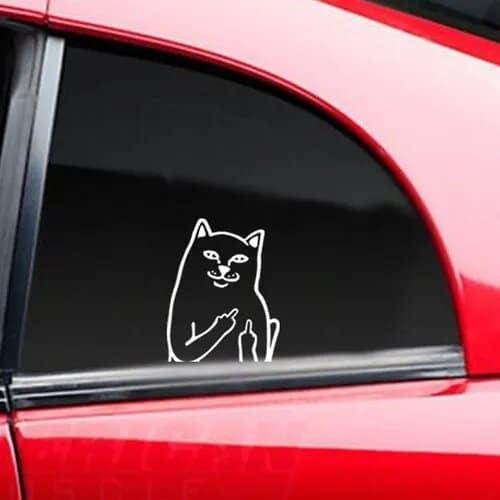 Samolepka Middle Finger Cat