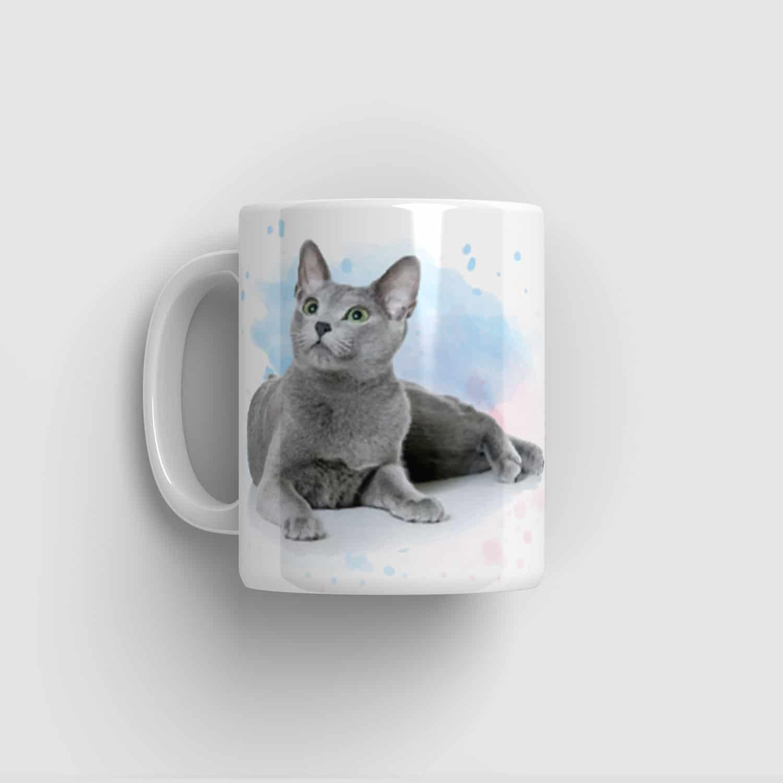 Hrnek s ruskou modrou kočkou
