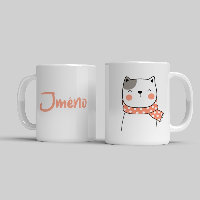 Hrnek se jménem pro děti Kočička