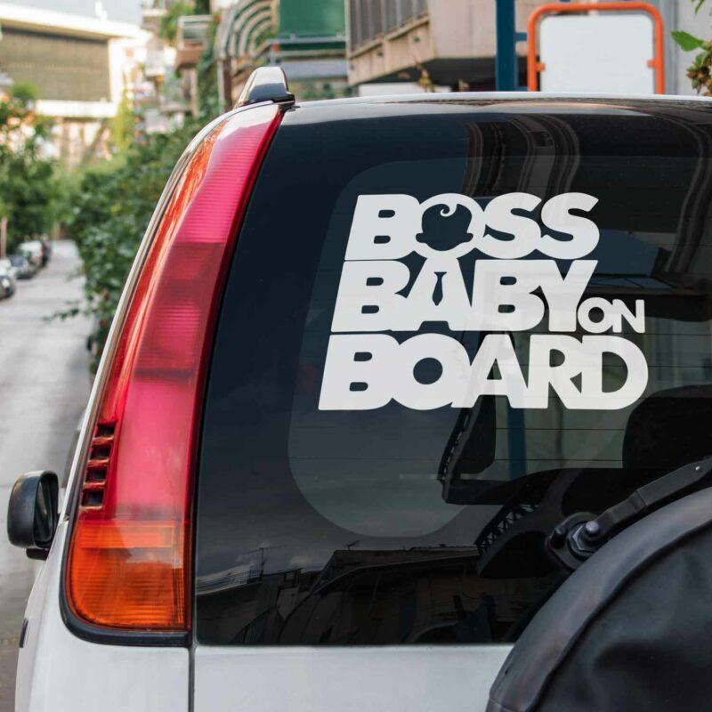 Samolepka Boss Baby On Board na auto